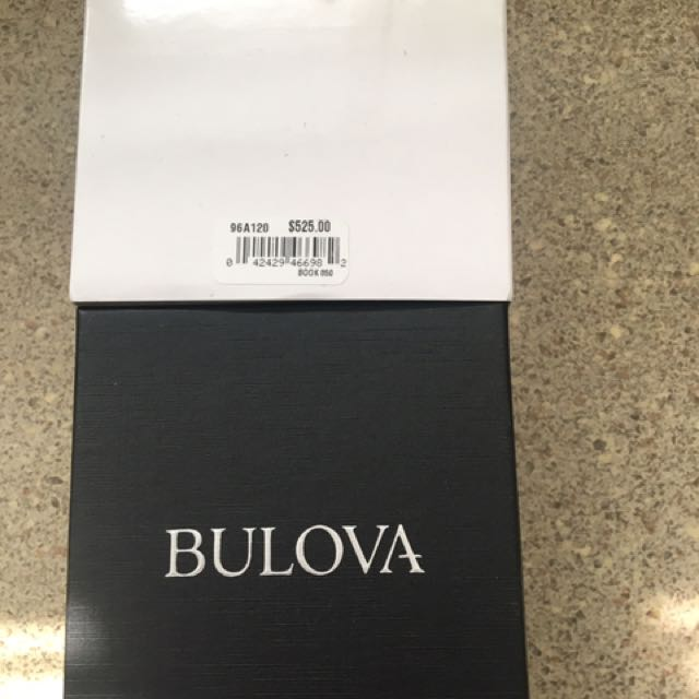 Bulova chronograph watch for men
