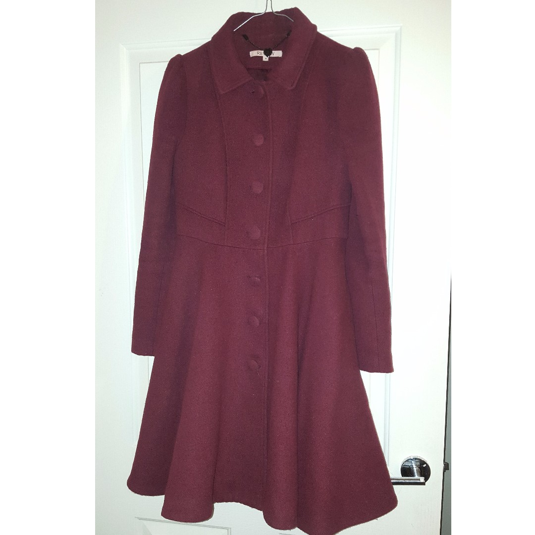 Burgundy Review Coat Size 10