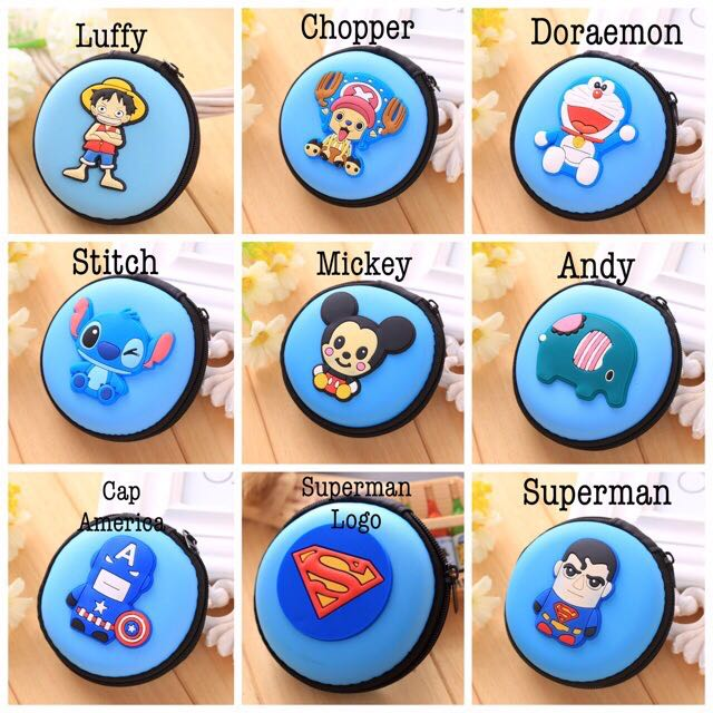 CHARACTER EARPHONES POUCH / COIN PURSE