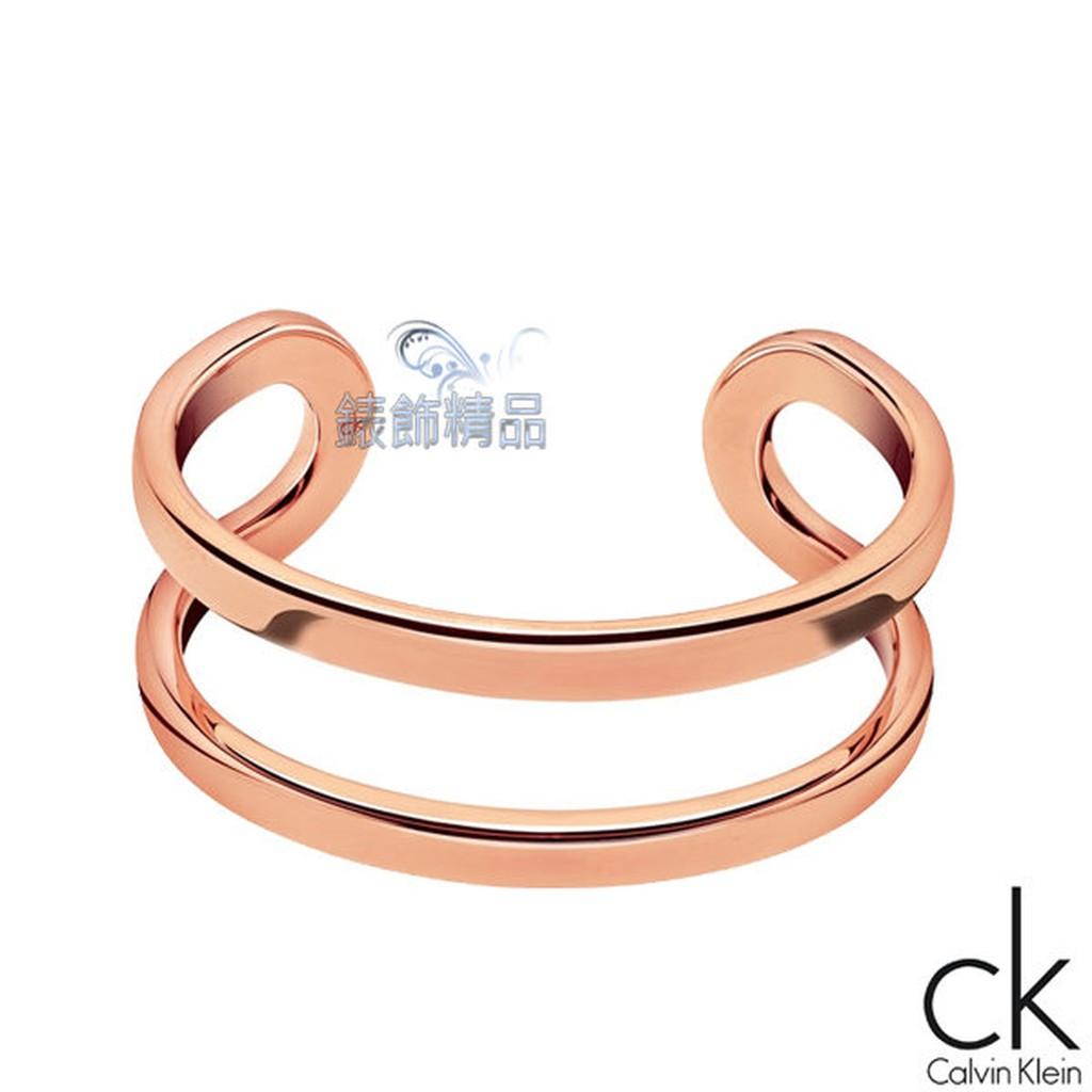 香港代購CK飾品 ck女性手環return呼應系列-玫瑰金316L白鋼 KJ0ZPF0001全新原廠正品 禮物