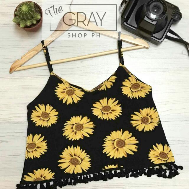 Crop Top Pompoms (Sunflower)