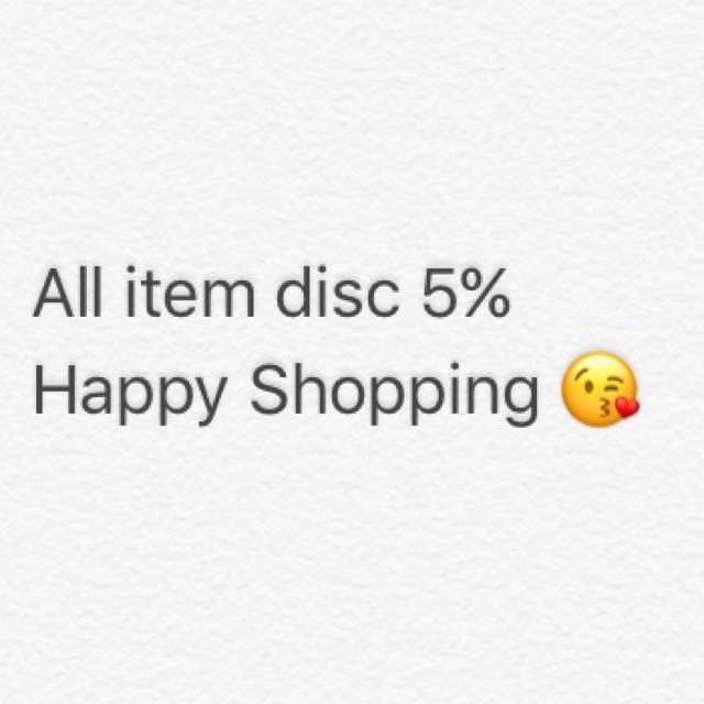 Disc 5% all item 💋