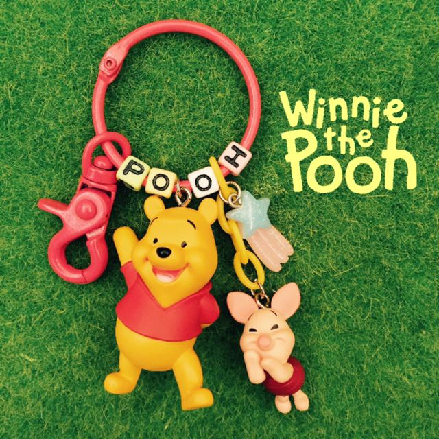 💟DIY 小熊維尼 小豬 好朋友鑰匙圈吊飾