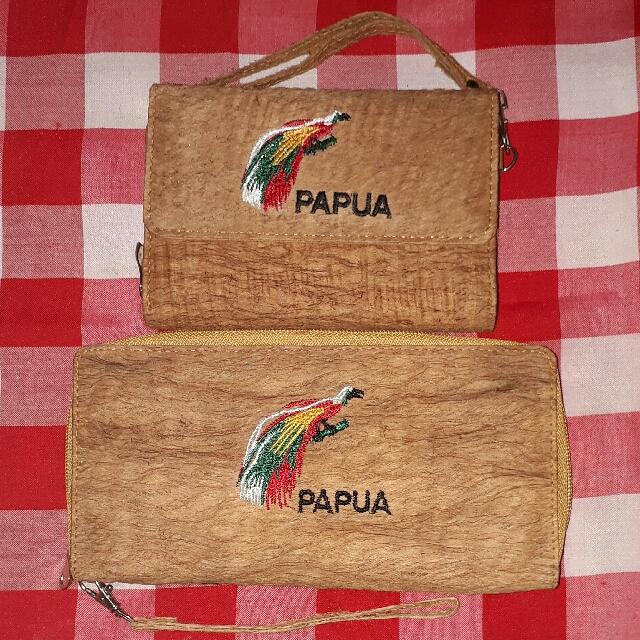 dompet kulit kayu exlusive dari papua olshop fashion olshop wanita