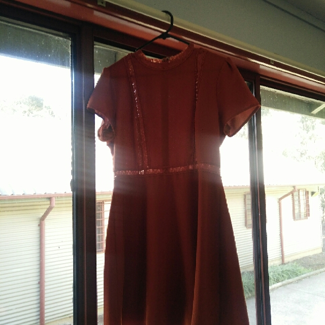 Dotti Dress - Burnt Orange