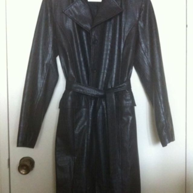 Dynamite trench pleather coat