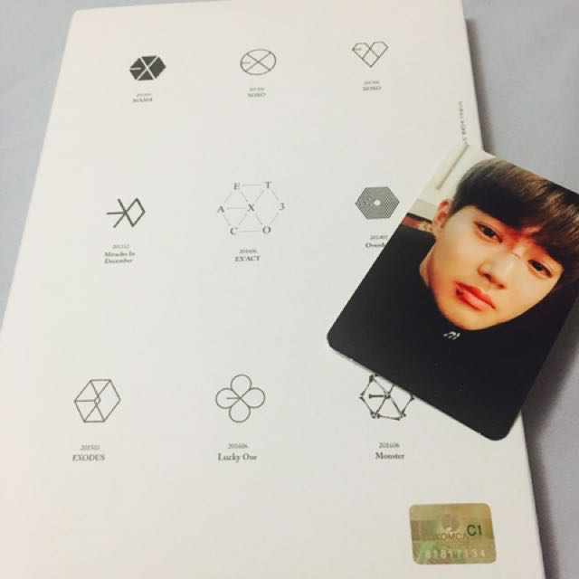 EXO EXACT ALBUM WITH SUHO photo card