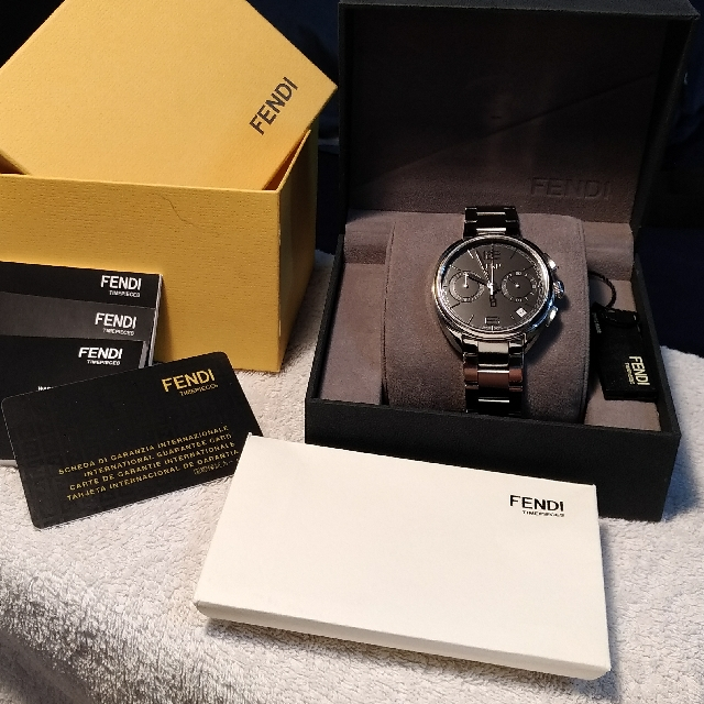 598e1e3ed89a Fendi Momento Chronograph Steel Men s Watch F213011000 - Accept Bitcoins,  Luxury, Watches on Carousell