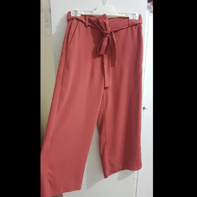 Forcast Pink Culotte Pants