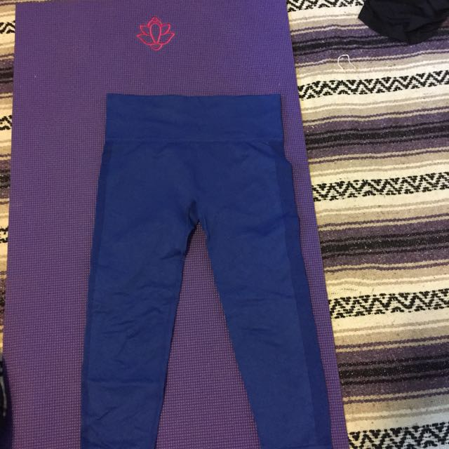 Forever 21 workout tights blue