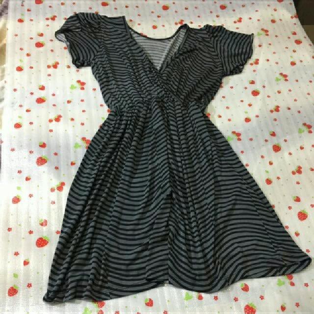 Gray Free Size Dress