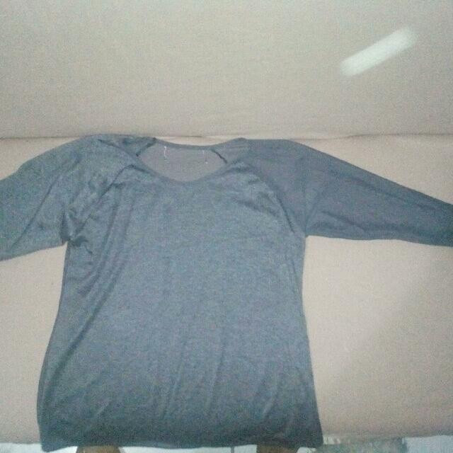 Grey Long Sleeve Transparent Shirt