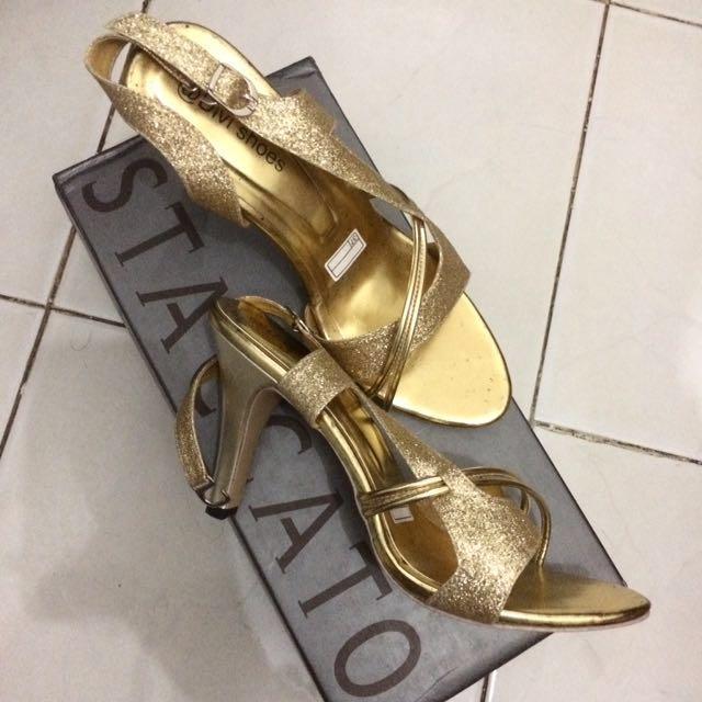Heels Gold Gliter