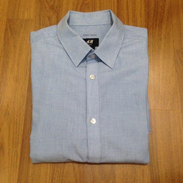 H&M blue light shirt