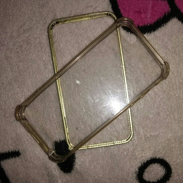 Iphone 5/5s Clear Case And Metal Bumper