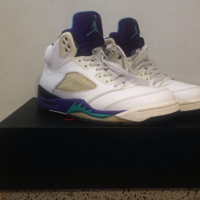 Jordan 5 White Grapes