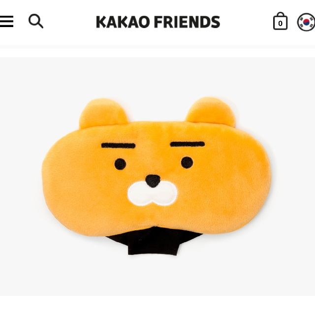 Kakao Friends Ryan sleeping eye mask