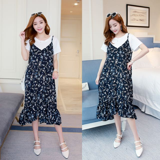Korean Floral Dress Women S Fashion Clothes Dresses Skirts On
