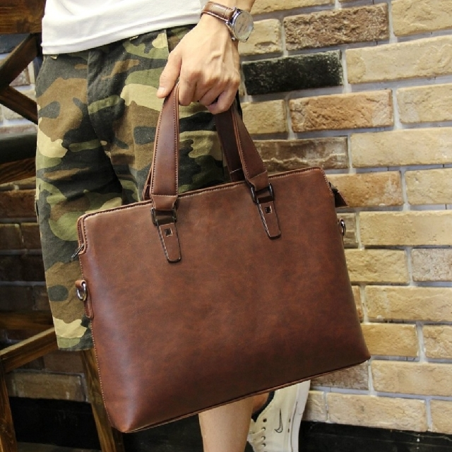 leather business casual man bag