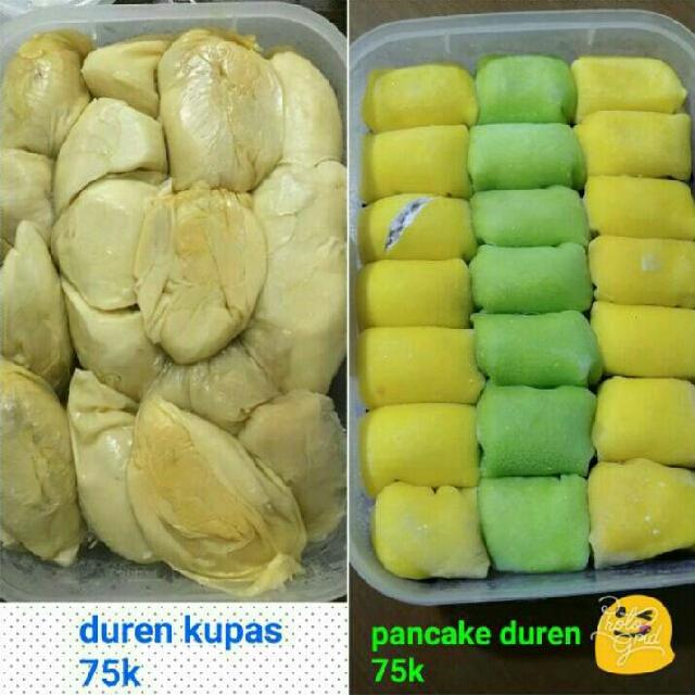 Pancake Durian & Durian Kupas