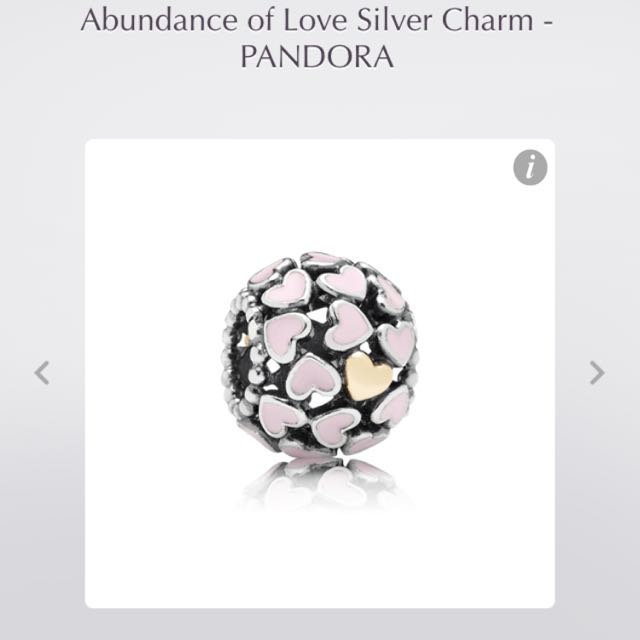 PANDORA abundance of love charm with 14K gold heart