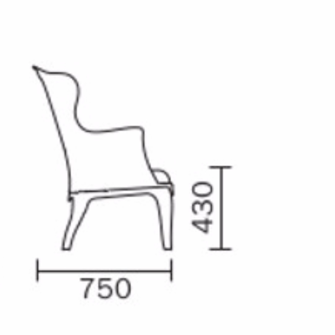 Pasha 660 Armchair By Pedrali (Authentic), Home U0026 Furniture, Furniture,  Tables U0026 Chairs On Carousell