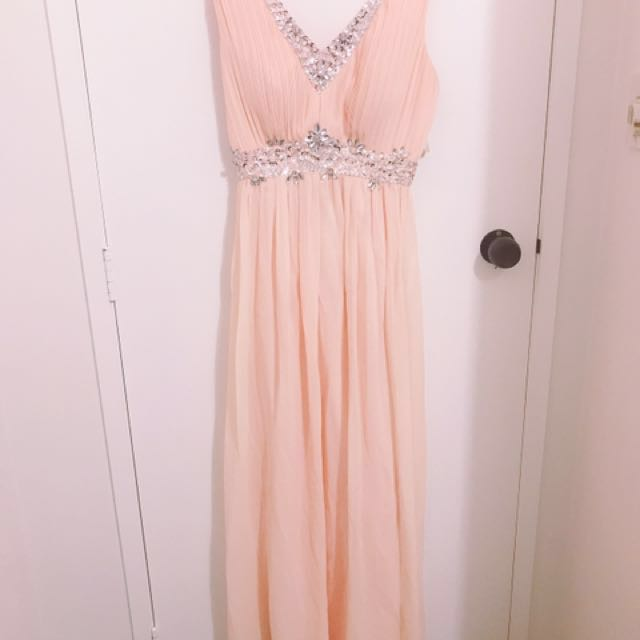 Peach Ball Dress