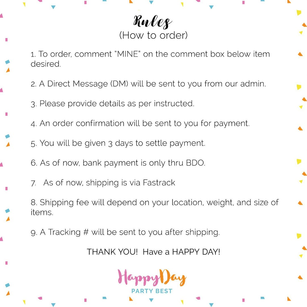 PLEASE READ BEFORE ORDERING: Our Rules, T&C, Shipping & Payment Guidelines, Reservation Policy! THANKS! :)