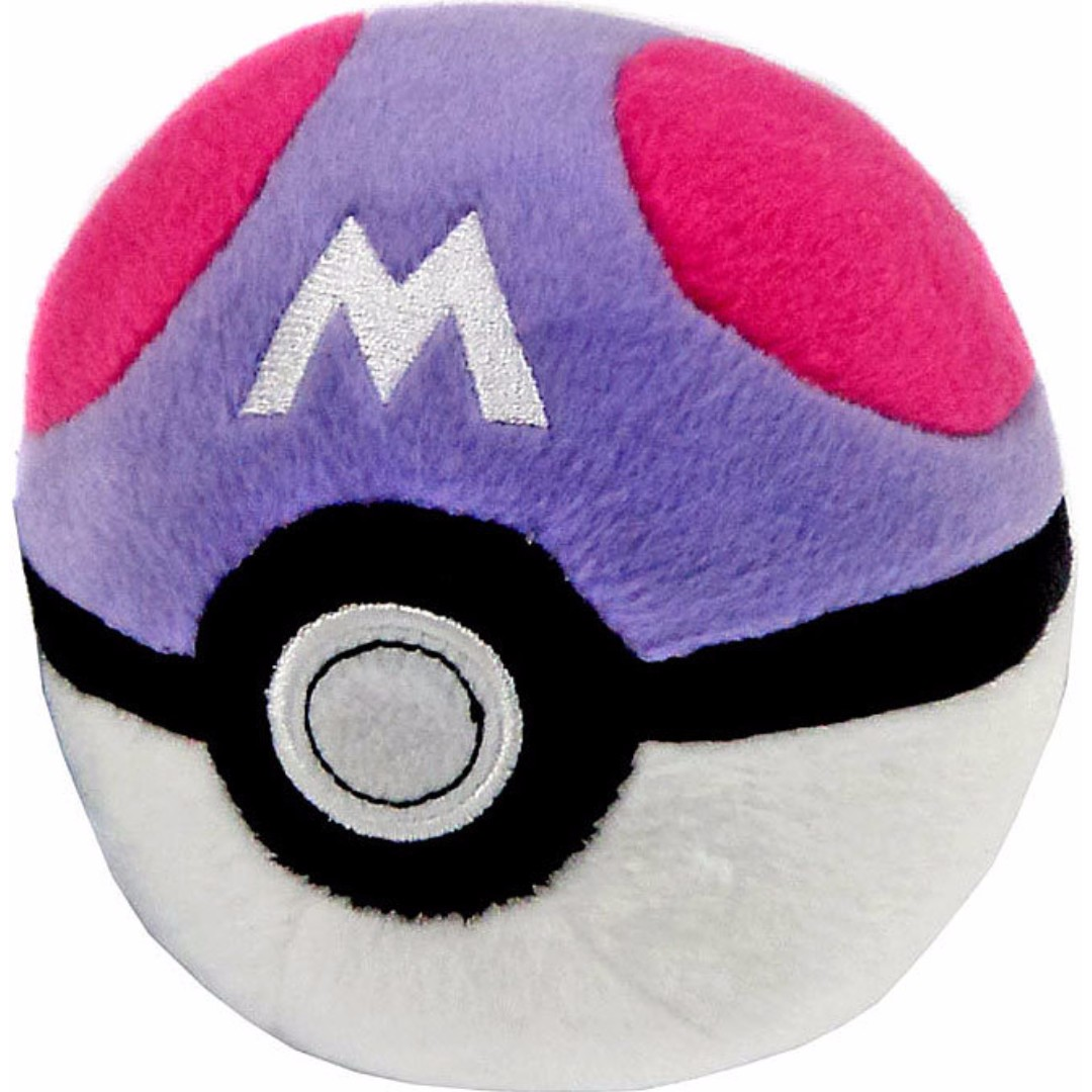 """Pokemon Master Ball 5"""" Poké Ball Plush Toy TOMY Official - BRAND NEW with TAG!"""