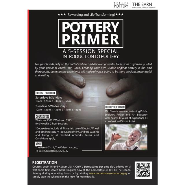 """Pottery Primer"" - 5-Sessions Special Introduction To Pottery"