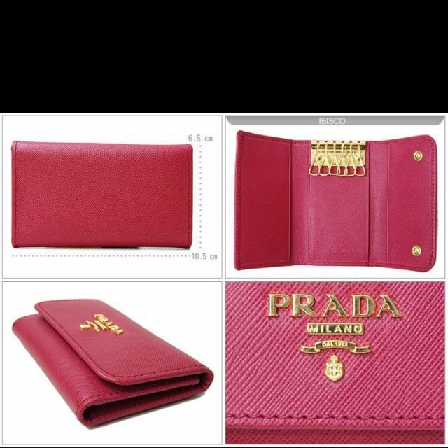 1c82c3277742 ... new zealand prada key holder 6 saffiano leather pink womens fashion  bags wallets on carousell 32c3f