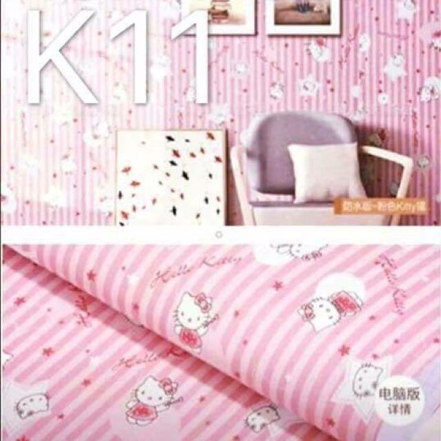 PVC Hello Kitty wallpaper