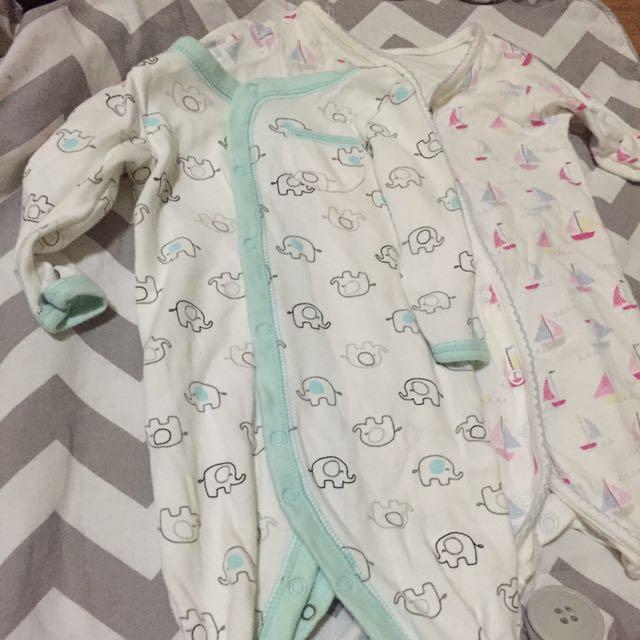RUSH! BABY STUFF! Auth Koala baby and Mothercare Onesies! Newborn to 3 mos!