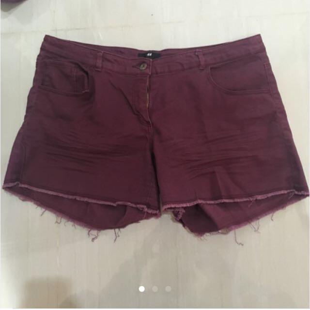 Short Red Panta