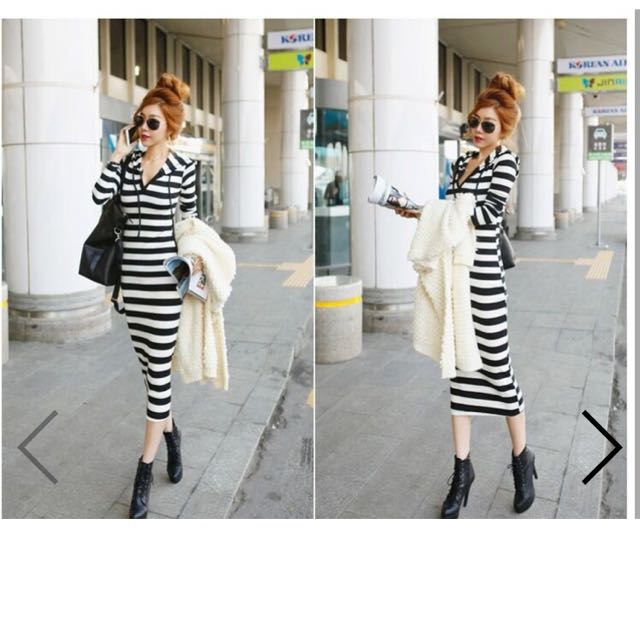 Stripe Maci Dress with Hoodie