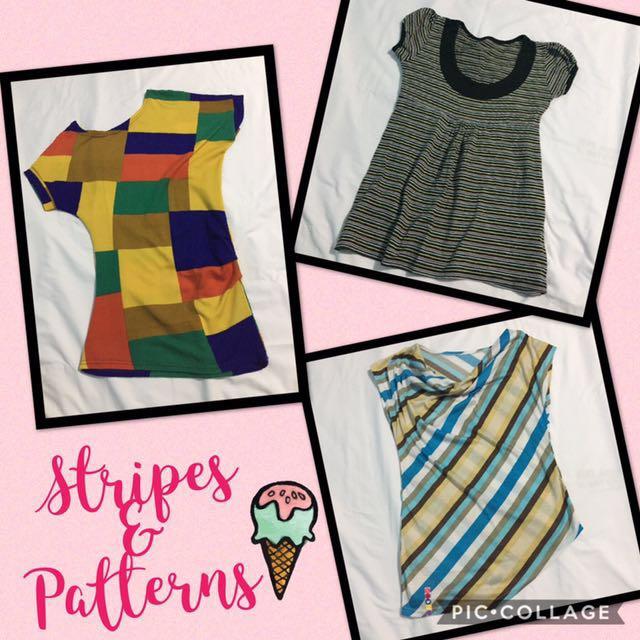 Stripes & Pattern Tops