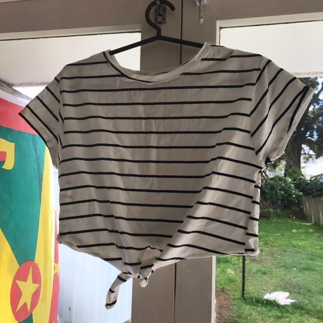 Stripy crop top