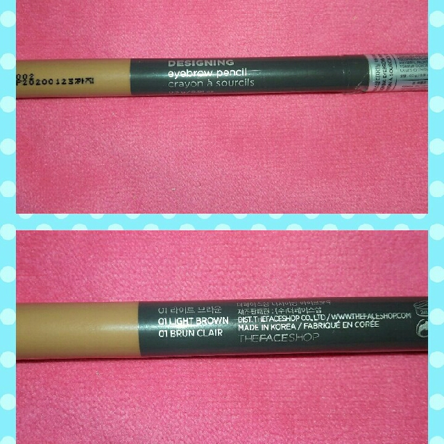 The Face Shop Designing Eyebrow Pencil (01 Light Brown
