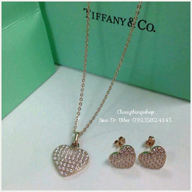 Tiffany & Co. Heart Diamond Set
