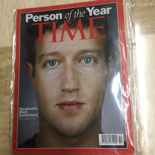 Time Person Of The Year Mark Zuckerberg Facebook