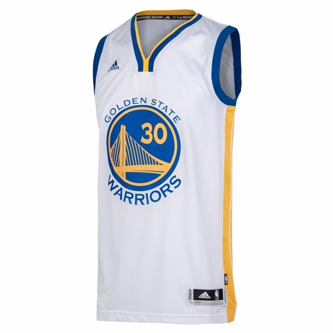 【吉米.tw】全新正品 adidas 9月限期促銷 NBA CURRY 白色籃球衣 運動服 男裝 A45915 0908