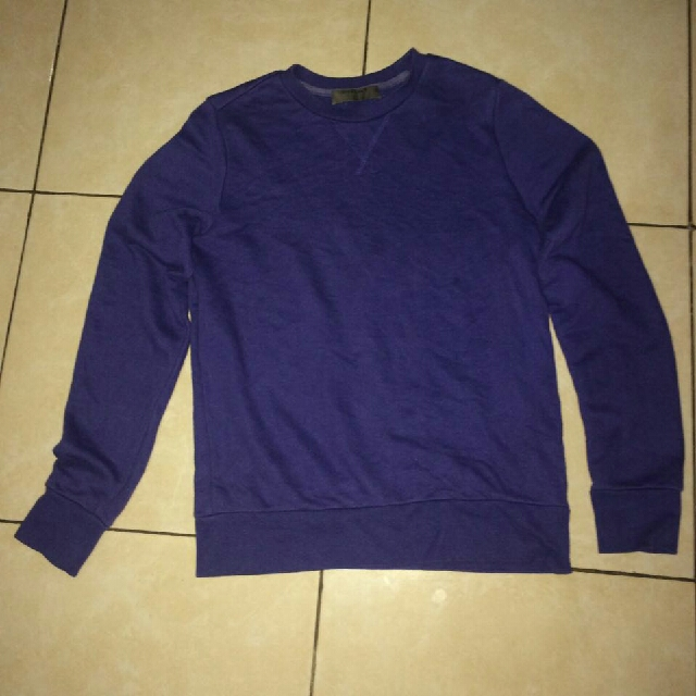 Unisex Branded Blue Sweater