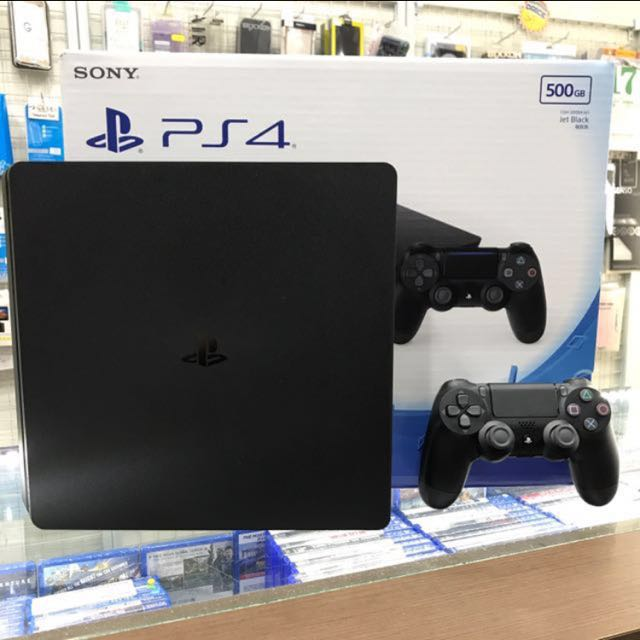 Used PS4 slim 500GB (Black), Toys & Games, Video Gaming