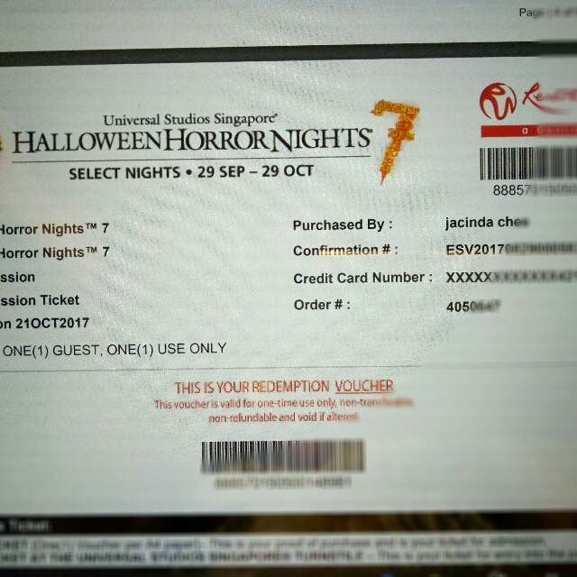 USS Halloween Horror Nights Tickets, Tickets & Vouchers, Event ...