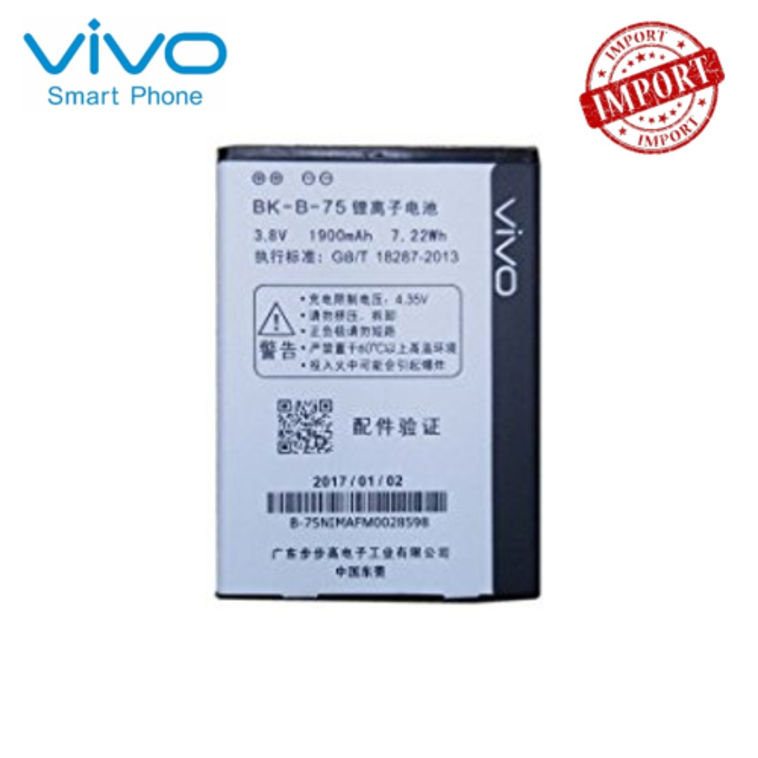 Vivo BK-B-75 Li-Ion Battery for Y22 (Import Original)