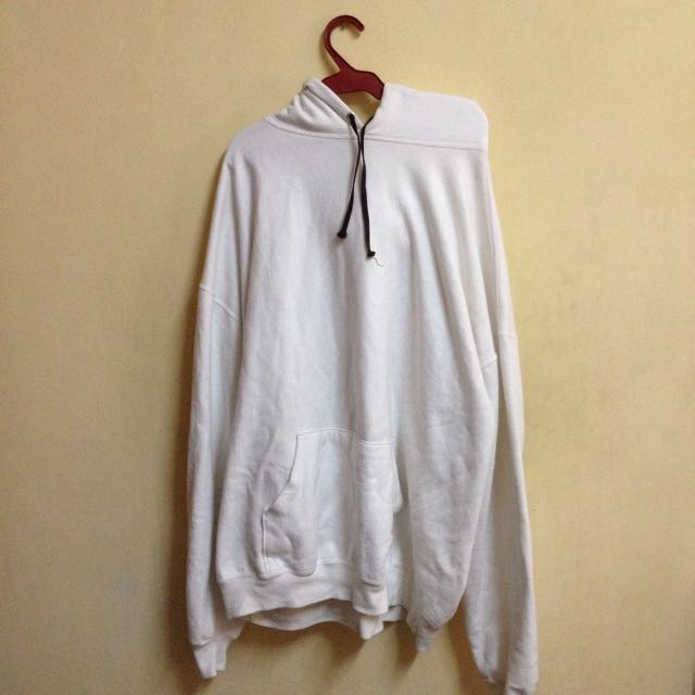 White Hoodie Jacket 100% Cotton