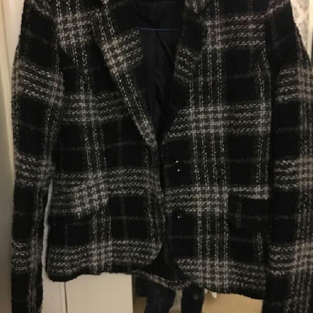 Wool Short Blazer