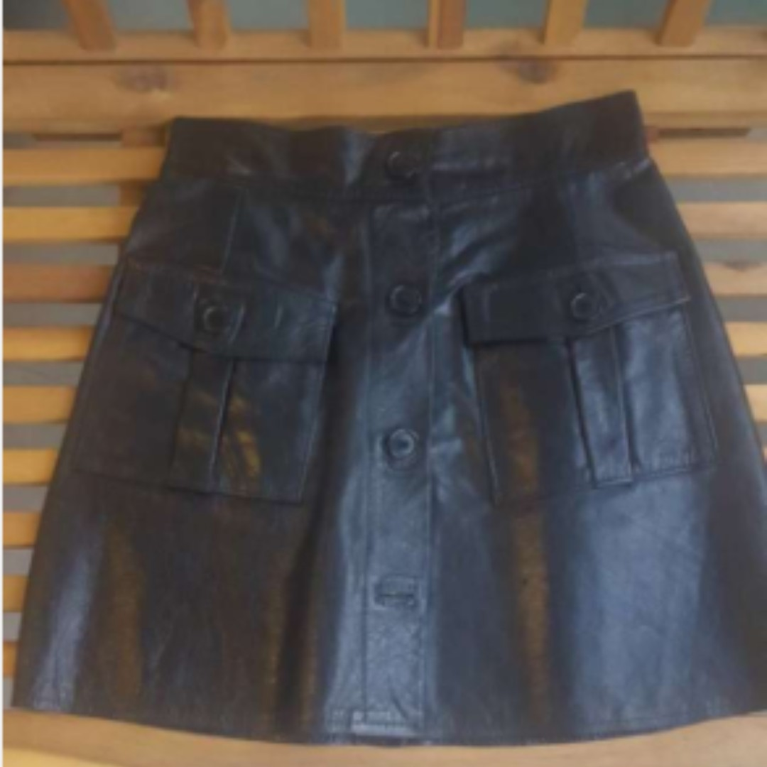 XS Real Leather Skirt