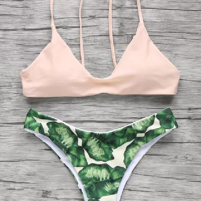 Apricot Palm Tree Bikini Size Small