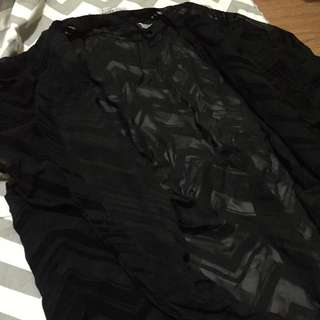 COMEBACK SALE! ONLY P100!Auth Divided by H&M BLACK TEXTURED TOPPER! Almost new!